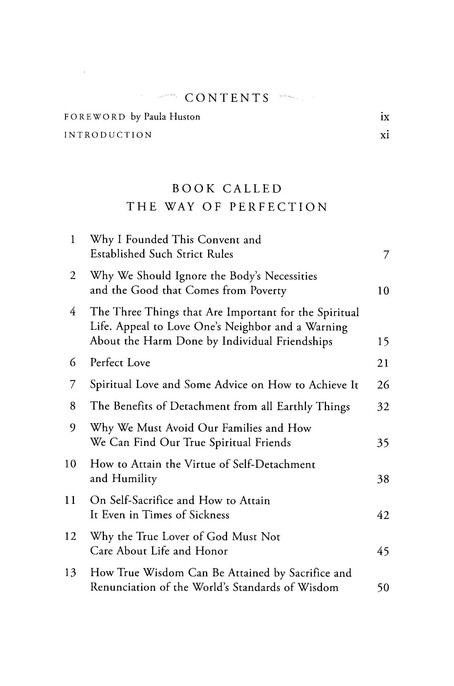 The Way of Perfection, Contemporary English Edition