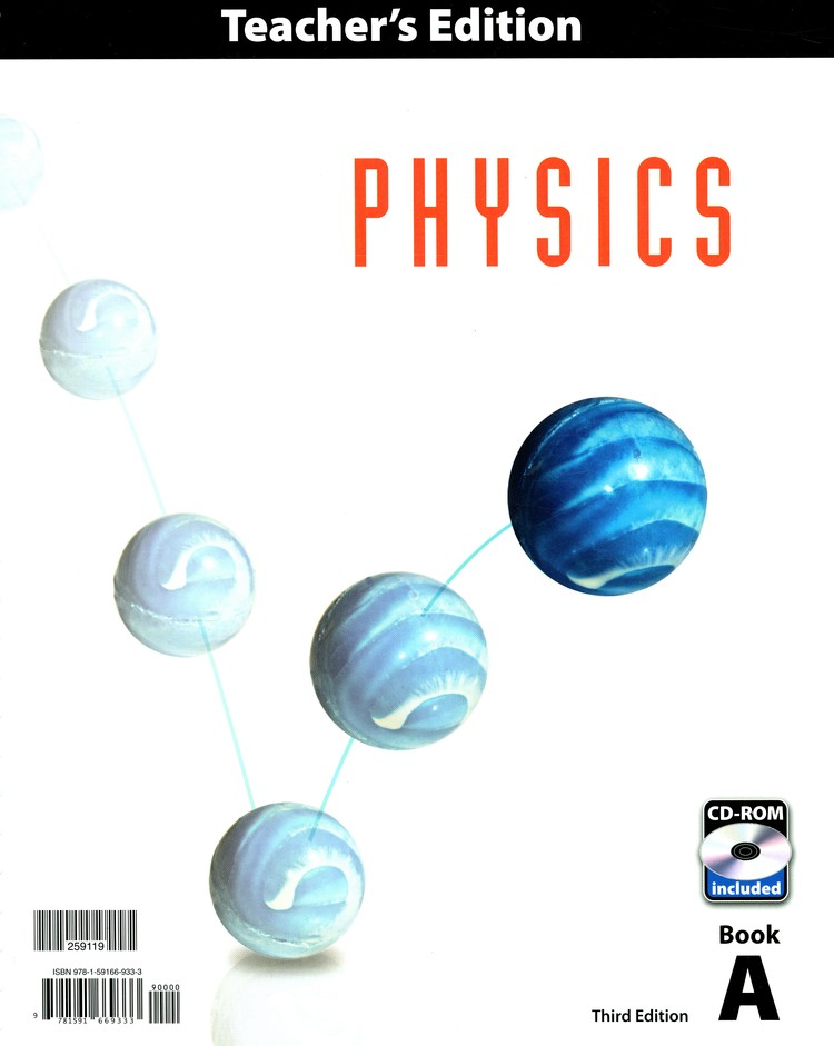 BJU Physics Grade 12 Teacher's Edition with CD-ROM (3rd Edition)