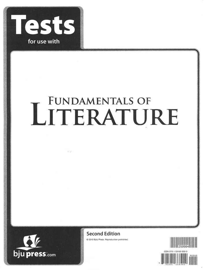 BJU Fundamentals of Literature Grade 9 Tests Packet (2nd Edition)