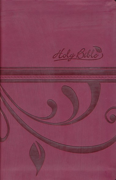 CEB Common English Bible, Compact Thin Edition - Pomegranate Flourish DecoTone