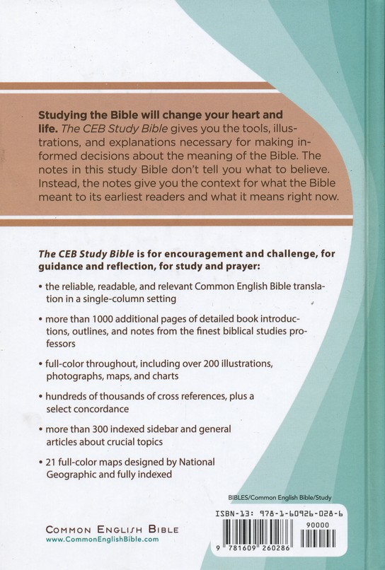 CEB Study Bible - hardcover