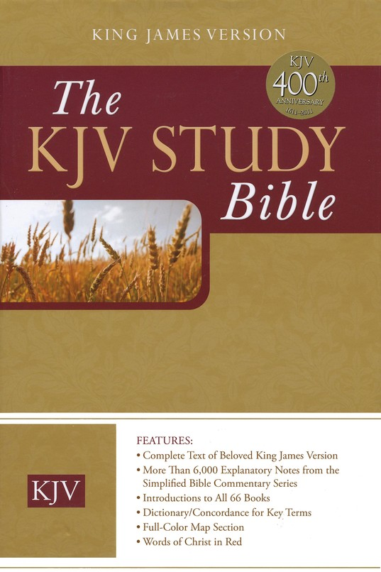 The KJV Study Bible Burgundy Bonded Leather