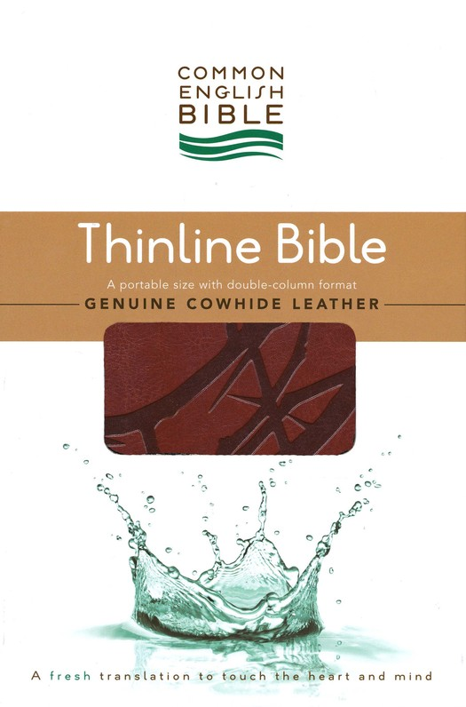 CEB Thinline Bible, Soft leather-like, Sienna Crown
