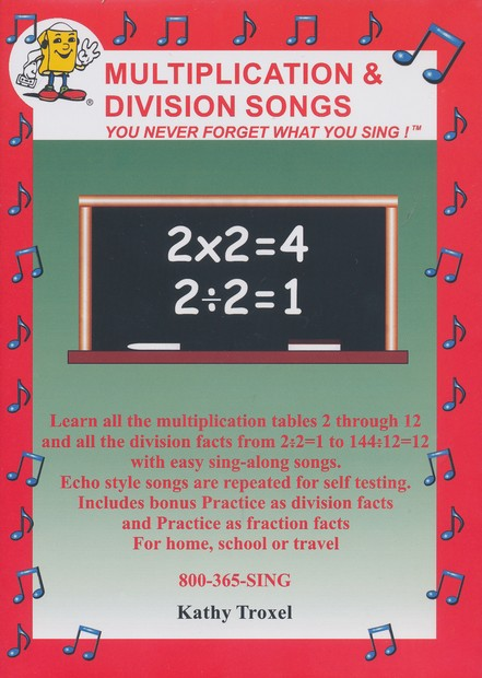 Audio Memory Multiplication and Division Songs DVD