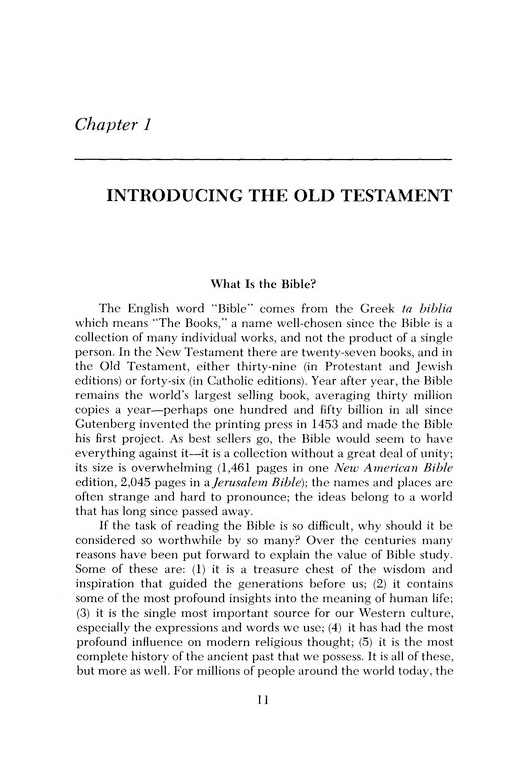 Reading the Old Testament An Introduction