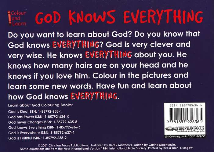 God Knows Everything Coloring Book