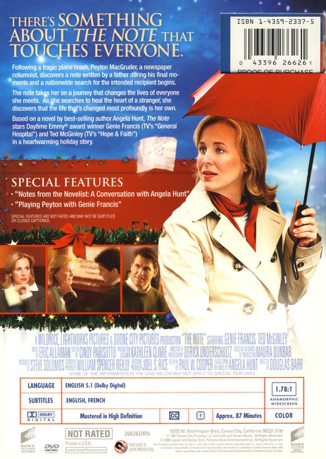 The Note, DVD
