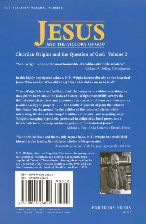 Jesus and the Victory of God: Christian Origins and the Question of God