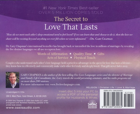 The Five Love Languages                     - Audiobook on CD