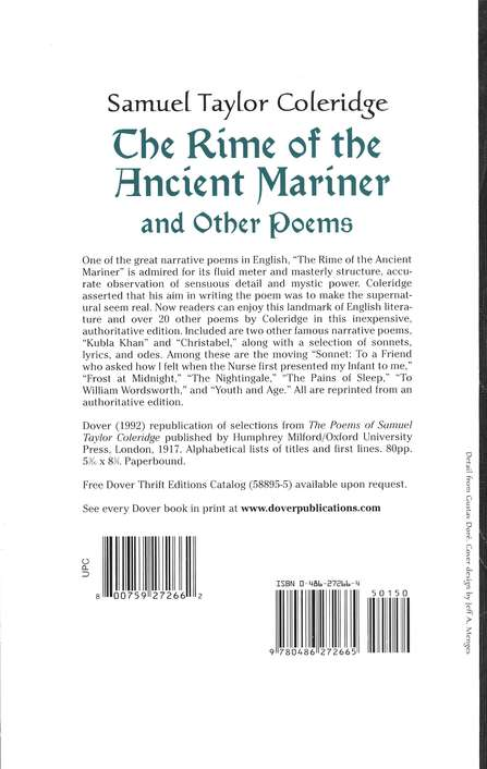 The Rime of the Ancient Mariner and Other Poems: Dover  Thrift Editions