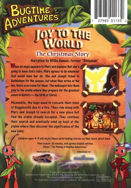 Joy to the World (The Story of Christmas), Bugtime Adventures DVD