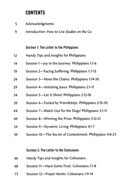 The Philippians, Colossians, First and Second Thessalonians