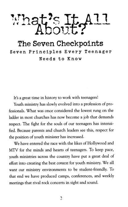 The Seven Checkpoints for Youth Leaders: Seven Principles Every Teenager Needs to Know