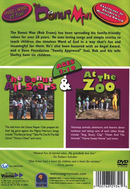 The Donut Man: The Donut All-Stars & At The Zoo, DVD