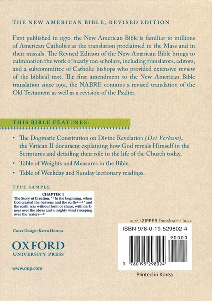 The New American Bible, Compact, Black Duradera with Zipper, Revised Edition