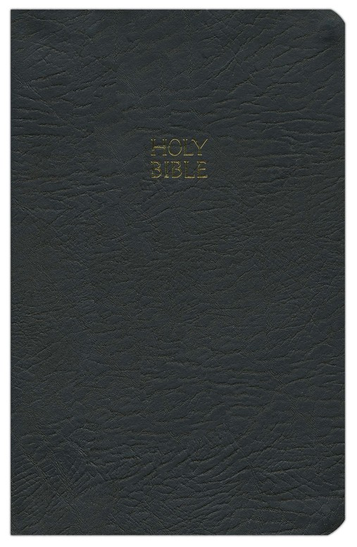 NKJV Ultraslim Bible, Bonded leather, black