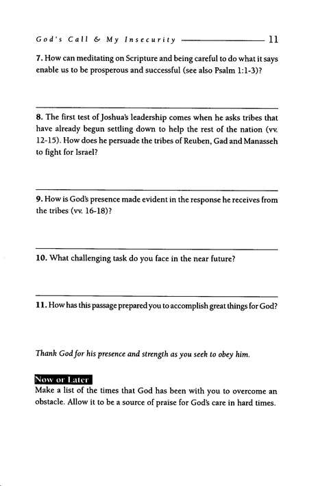 Joshua: The Power of God's Promises LifeGuide Scripture Studies