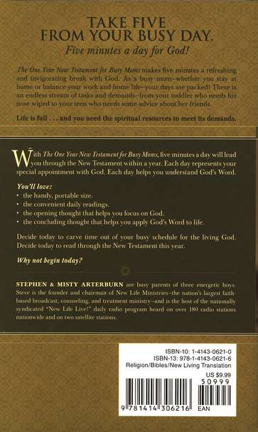 The NLT One Year New Testament for Busy Moms
