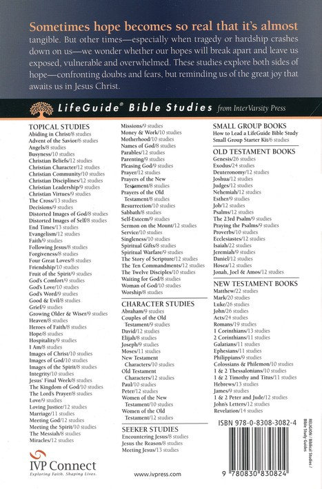 Hope. LifeGuide Topical Bible Studies