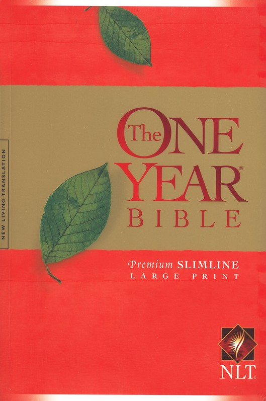 NLT One Year Premium Slimline Large Print Bible: 10th Anniversary - softcover