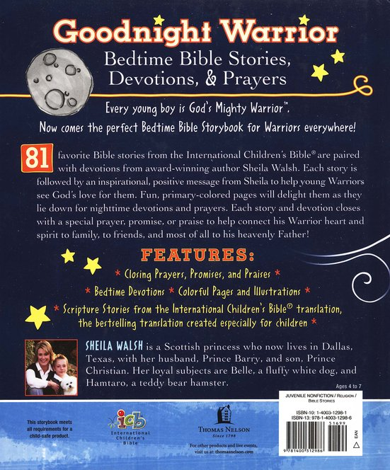 Goodnight Warrior: God's Mighty Warrior Bedtime Devotional Bible