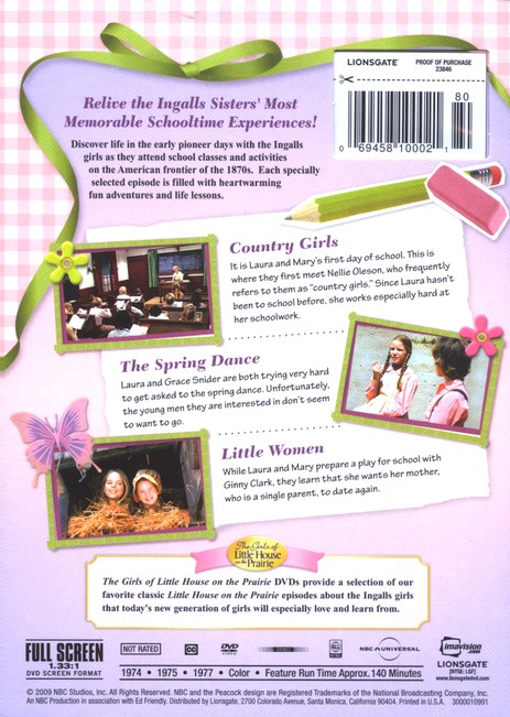 Country School: The Girls of Little House on the Prairie