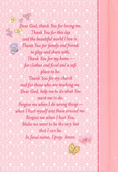 NKJV Precious Moments Holy Bible - Pink - Slightly Imperfect