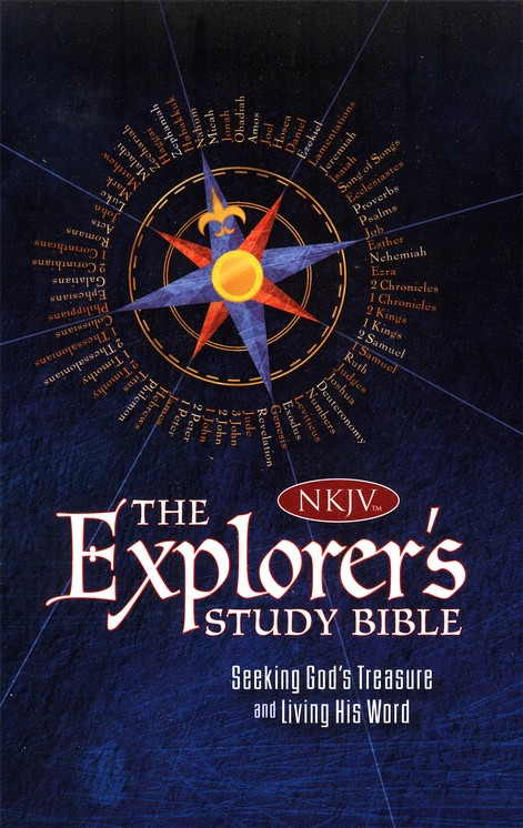 NKJV Explorer's Study Bible--soft leather-look blue
