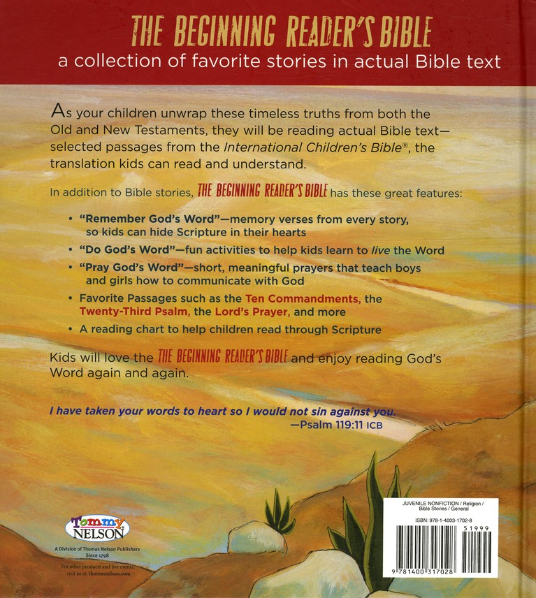 The ICB Beginning Reader's Bible