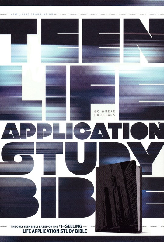 NLT Teen Life Application Study Bible, TuTone Steel City Imitation Leather
