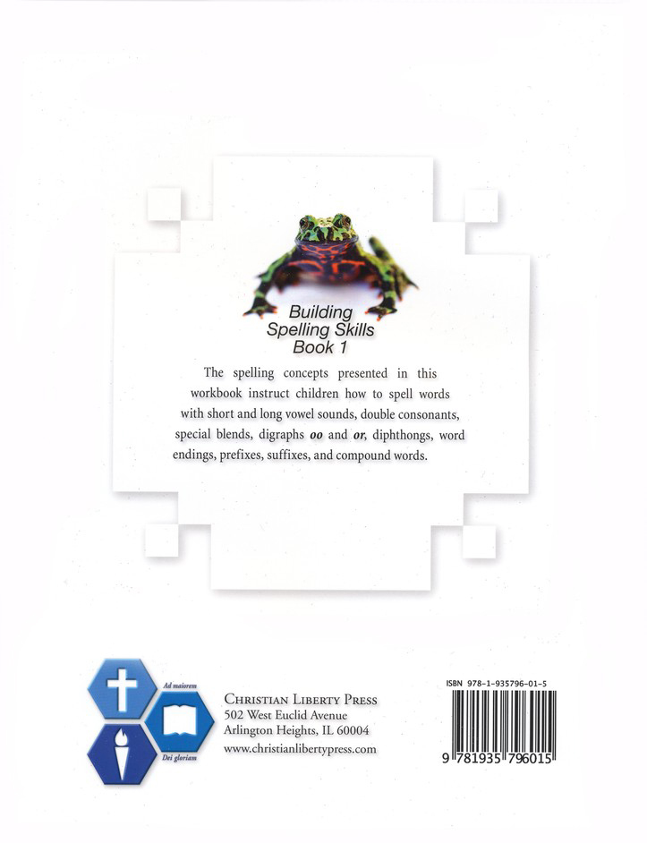 Building Spelling SKills Book 1, Second Edition, Grade 1