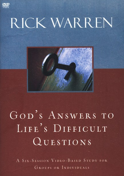 God's Answers to Life's Difficult Questions, DVD