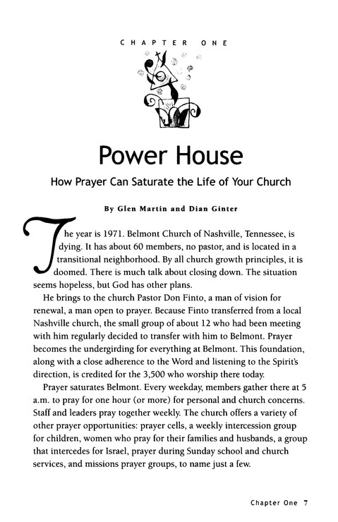 My House Shall be a House of Prayer