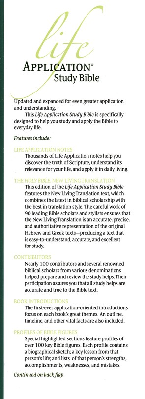 NLT Life Application Study Bible, Hardcover, Thumb-Indexed