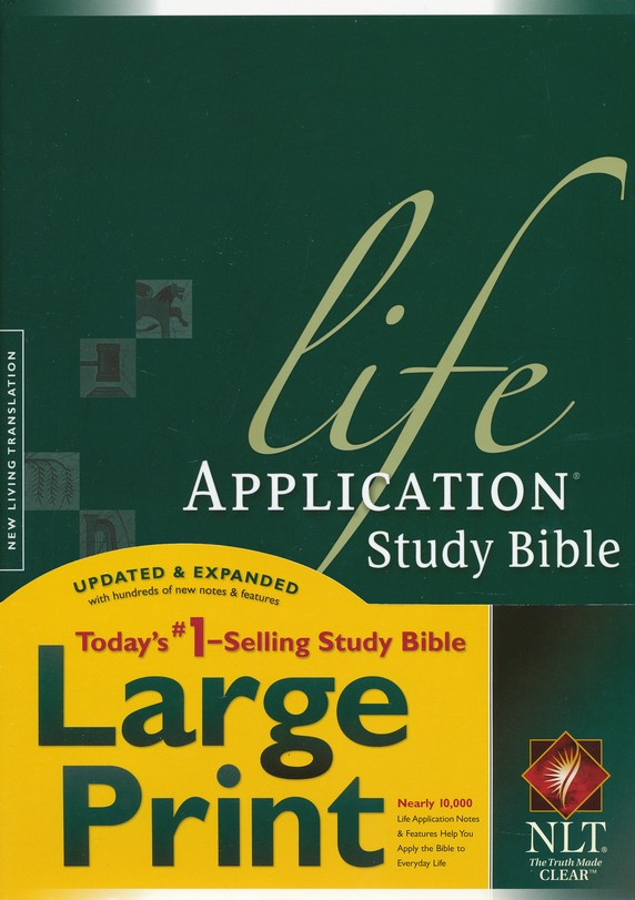 NLT Life Application Study Bible, Large Print, Hardcover, Indexed