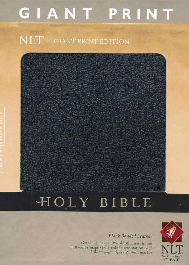 NLT Holy Bible, Giant Print Black Bonded Leather