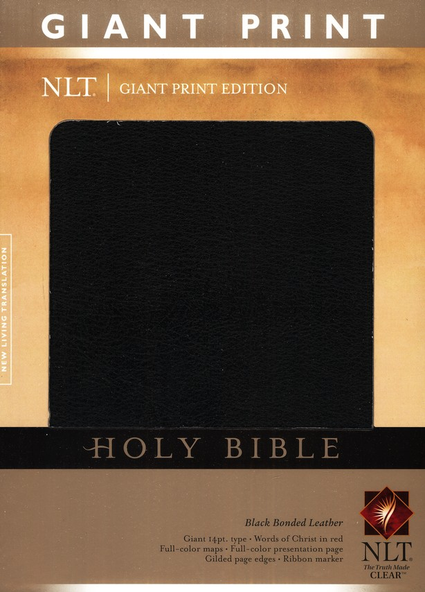 NLT Holy Bible, Giant Print Black Bonded Leather, Thumb-Indexed