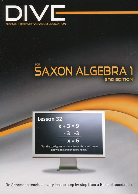 Saxon Math Algebra 1 3rd Edition DIVE CD-Rom