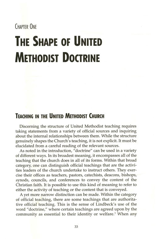 United Methodist Doctrine: The Extreme Center