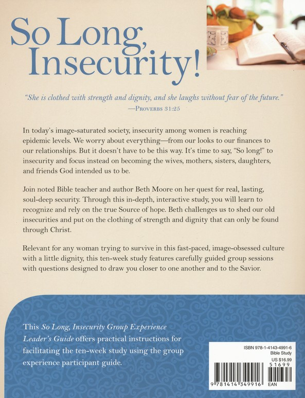 So Long, Insecurity: Group Experience - Leader's Guide