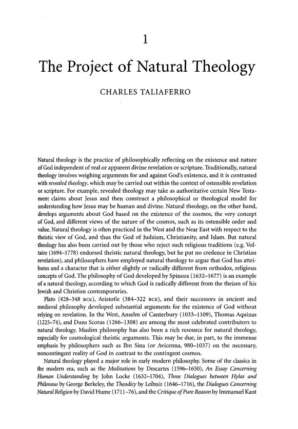Blackwell Companion to Natural Theology