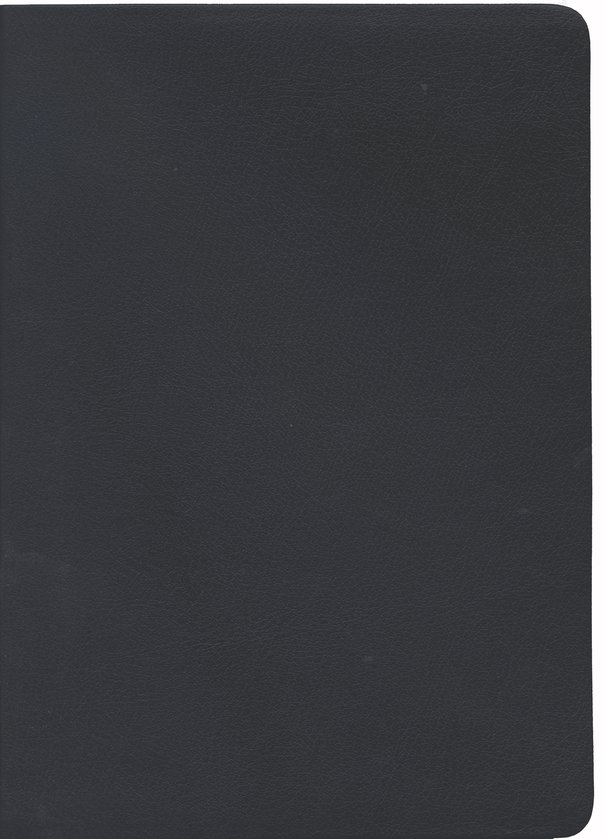 NASB Large-Print Ultrathin Reference Bible--bonded leather, black