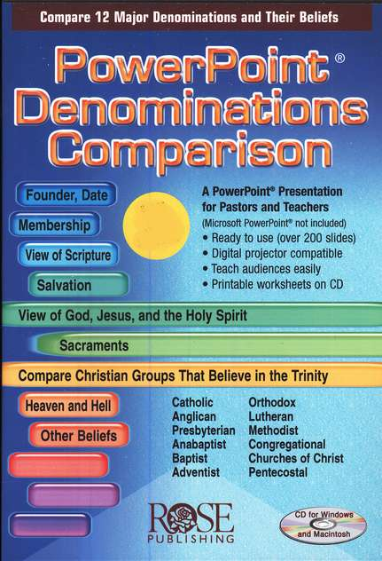 Denominations Comparison: PowerPoint CD-ROM