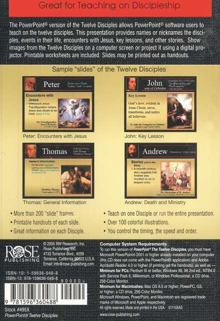 The Twelve Disciples: PowerPoint CD-ROM