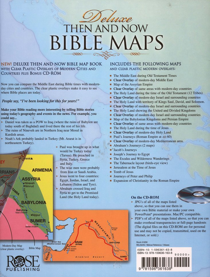 Then and Now Bible Maps, Deluxe Edition with CD-ROM