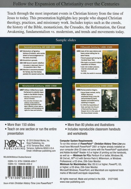 Christian History Timeline: PowerPoint CD-ROM