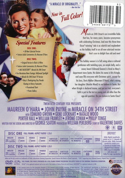 Miracle on 34th Street (1947), Special Edition DVD