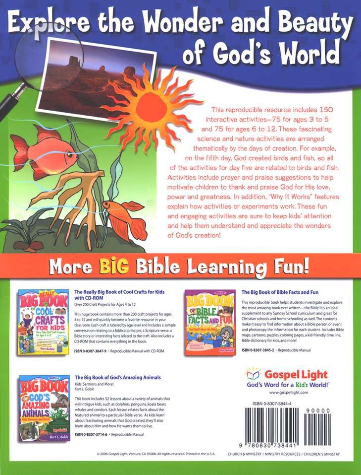 Big Book of God's Amazing Creation: Science and Nature Activities for Ages 3 to 12