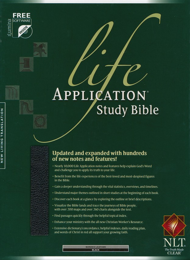 NLT Life Application Study Bible, Bonded Leather, Black