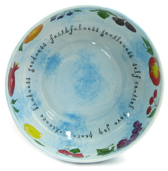 Fruit of the Spirit--Ceramic Bowl